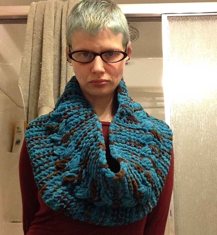 Loom Knit Cable Chunky Cowl And Mobius Cowl Craftasaurus Rex